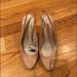Zara nude high heeled shoes